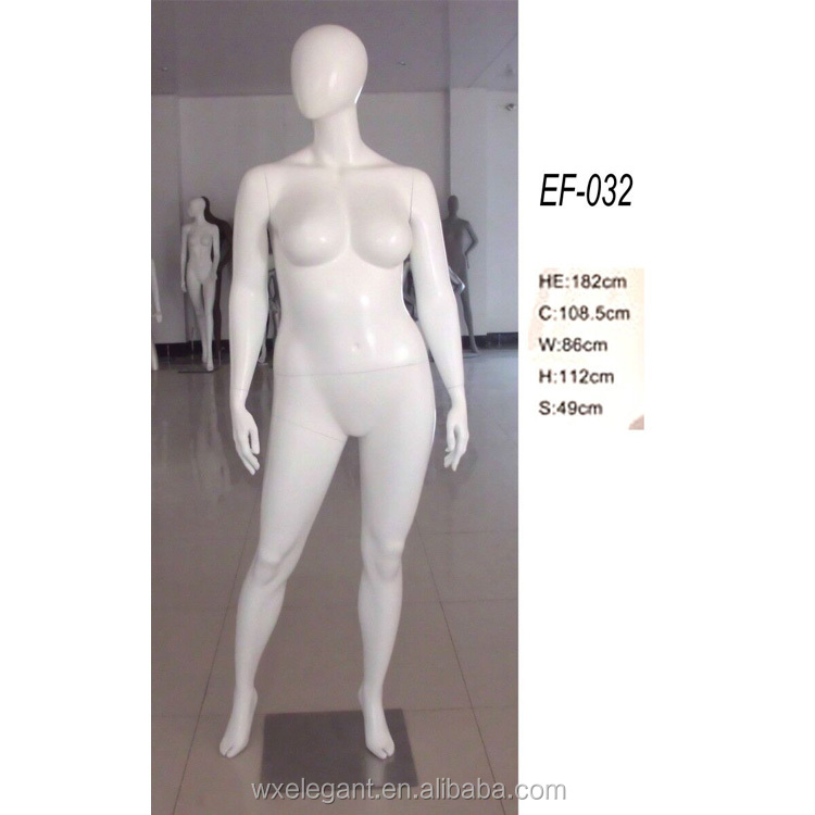 2017 fashion display standing big breast female mannequin and big butt mannequin sale