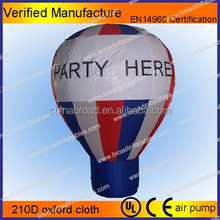 2012 hot selling self inflating helium balloons