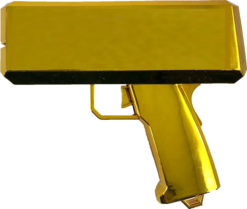hot sale Batter operated UV gold spray plating money <strong>gun</strong> and super money <strong>gun</strong> for party and night club using money <strong>gun</strong>