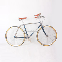 52cm Single Speed Chrome-Molybdenum Steel 700C Chro-moly Road Bike Lug Retro Frame Track Bicycle 700C Vintage City Bike