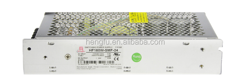 Hengfu power supply HF150W-SMF-24 single output miniature  switching power supply with CE approval