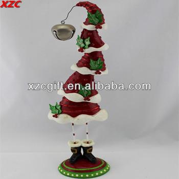 polyresin unique design christmas hat home decor ornament