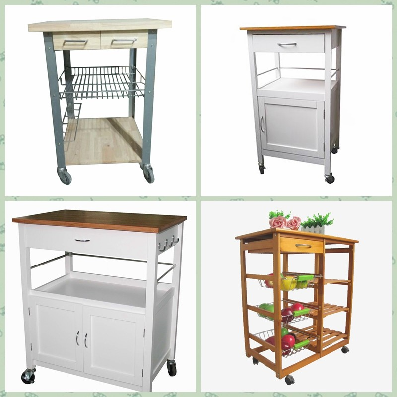 utility 2 tire rack cutting table kitchen island cart