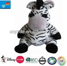 animated zebras toy/zebra stuffed animals/cheap plush zebra toy