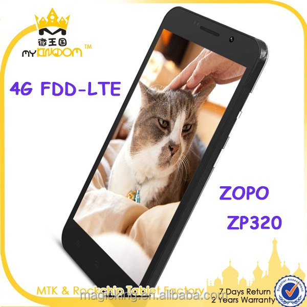 Original ZOPO ZP320 320 dual sim 4g lte phone Quad Core MTK6582M 1.3GHz 5.0'' IPS Screen 1GB RAM 8GB ROM 8MP+2MP