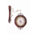 shape customized vintage style wooden double sides wall clock