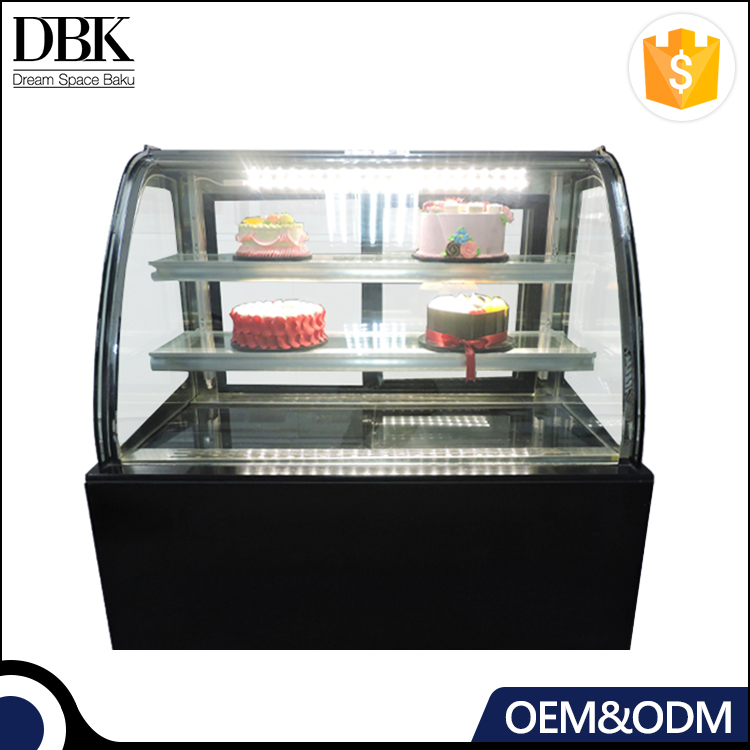 R134a Fan Cooling cake refrigerator display showcase chiller
