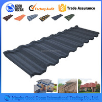 Best quality with CE and ISO9001 stone coated steel roofing tile fiber cement roof tile