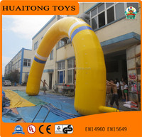 shanghai huaitongtoys Best Design Big Yellow Inflatable around Arch/ inflatable arch for wedding and advertisement