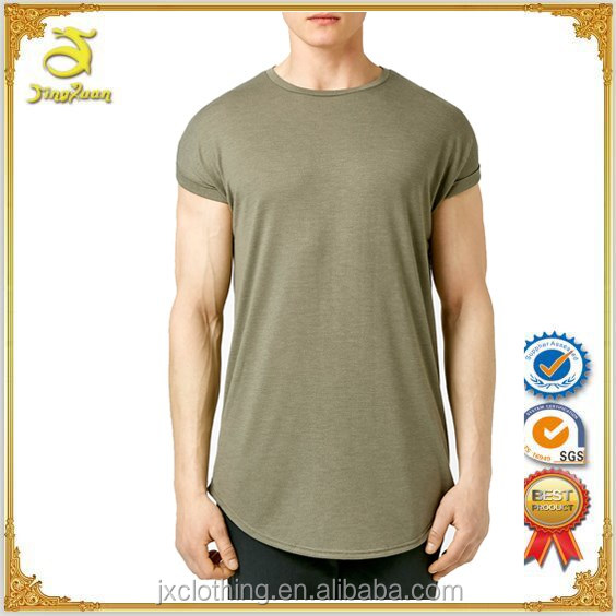 Alibaba China 100% cotton mens short sleeve curved hem longline t shirt online shopping india