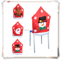 [JOY] 3 pcs / lot Santa Clause Red Hat Chair Back Covers for Christmas Dinner Decor NewParty Supply Favor