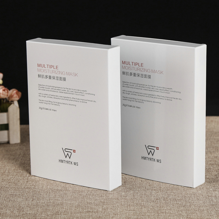 Custom printing 300g white special cosmetic paper facial mask packaging box
