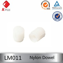 LM011 nylon furniture glude dowel connector for cabinet