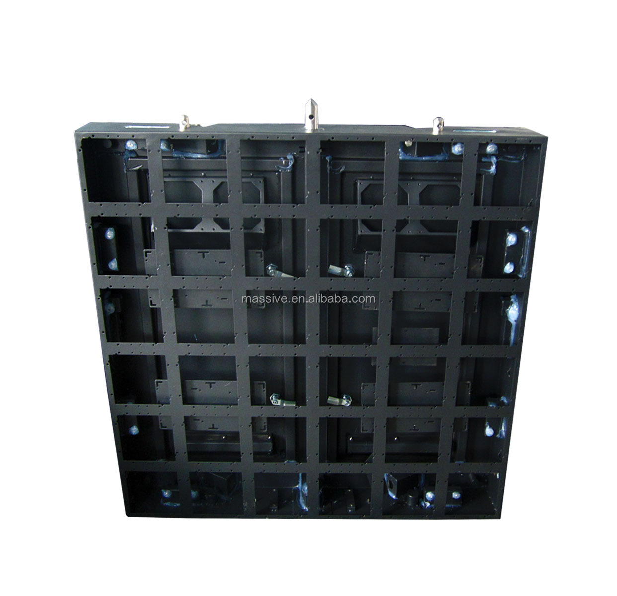 2014 Shenzhen Electronic Video P10 LED Panel Outdoor Moving Display Hanging Cabinet