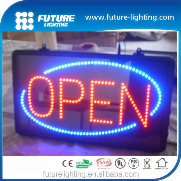 2017 superior quality shenzhen factory double sided outdoor led open sign