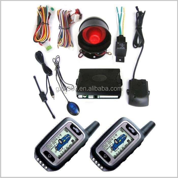 2 way car alarm LCD security car alarm system