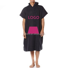 100% Coton Toweling Hooded Poncho surf