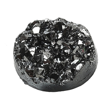 Hot Sale Round Black Resin Cameos 12.0mm Dia Druzy /Drusy Resin Cabochon Findings