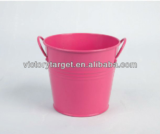 metal bucket tin box with ear