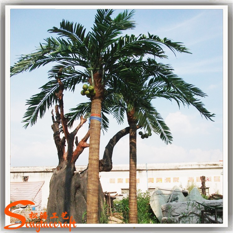 Manufacturers selling coconut tree brand high artificial coconut palm tree for sale landscape coconut tree decoration