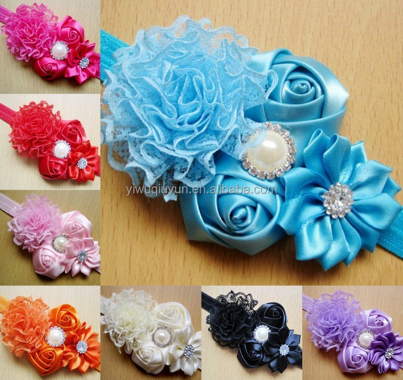 2016 Brand New HOT Hollow Elastic Hair Band Baby Headwear Fashion Headbands Girls Infant Bow Flower Hair Accessories