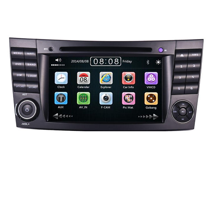 "7""HD car multimedia <strong>player</strong> for Mercedes Benz E class W211 E200 E300 E350 With 3g GPS Bluetooth Radio RDS USB SD DVD Free Map"
