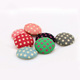 round flat back various print jewelry making fabric cover button