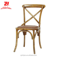 Cane Matting Over Padded Seat Chair Antique Oak Cross Back Chair ZJC16e