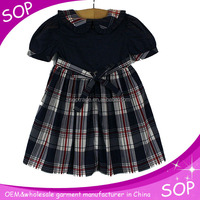 China alibaba plaid child baby dress model clothes
