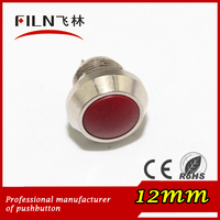 branded metal switch 2 pin 12mm ball head designer push button switch