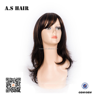 Wholesale natural color body wave lace front wig for white women synthetic hair