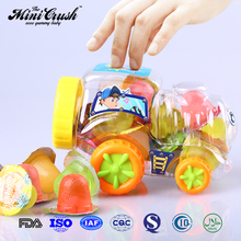 Chinese snacks halal gummy candy jelly in plastic car jar
