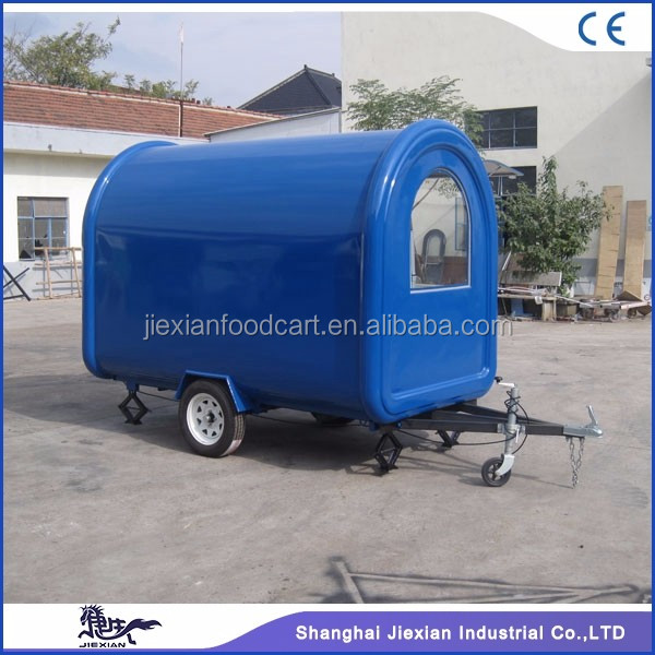 JX-FR280B Jiexian hot selling street mobile airstream food truck for sale with CE qualified on promotion