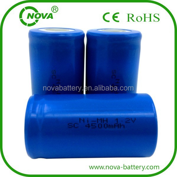 nimh sc 4500mah 1.2v rechargeable battery batteries sc4500mah ni-mh