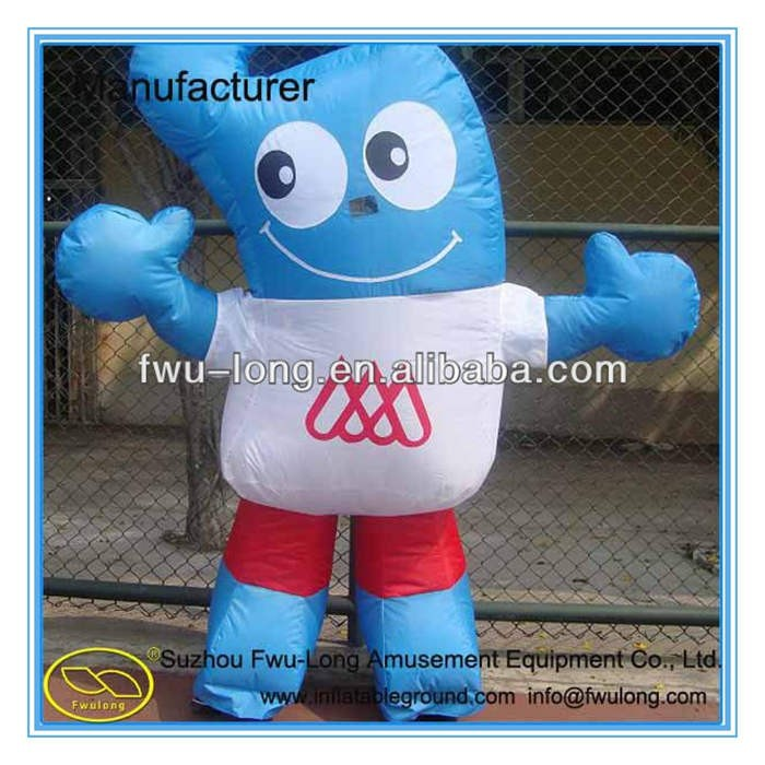 High quality pvc inflatable moving cartoon character for kids