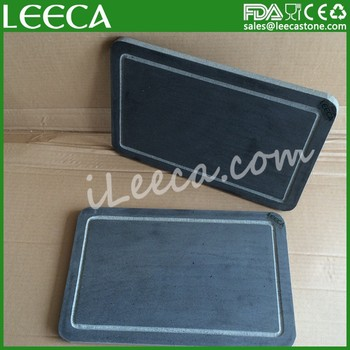 LEECA LTD black grill stone cooking heating natural roast stone