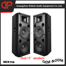 DELIXIN Audio dual 15 inch speakers cheap professional loudspeakers dj bass speakers images guangzhou audio factory SRX725