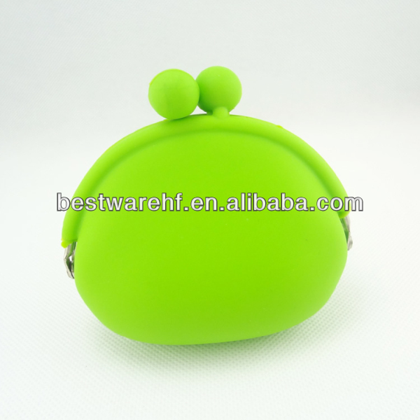Cover Coin Bag Gift green Mini Silicone Coin Pouch Wallet Purse Cover Coin Bag Gift green