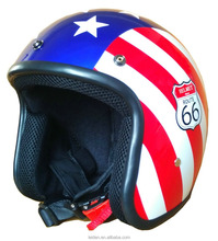 motorcycle helmets open face helmet retro gloss UV curable fit with visor