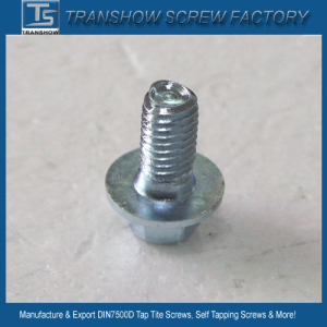 Grade 8.8 blue-white zinc plated triangular thread self tapping screw