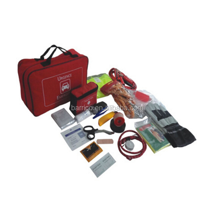 BLG-B0456 Auto Road Emergency First Aid Kit with Red color 21 in 1
