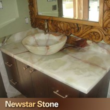 Chinese polished onyx vanity tops