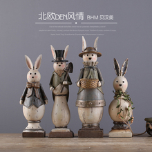2017Cute polyresin animal ,craft decorative rabbits figurine for gift