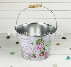 Marks and Spencer! Printed garden pails display flower bucket