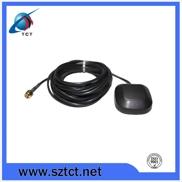 LNA Gain 1575.42MHz RP-SMA Male GPS Active Antenna Aerial Connector Cable