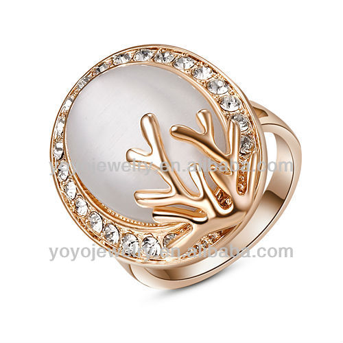 High quality shenzhen 2016 fashion jewelry rose gold ring with pearl
