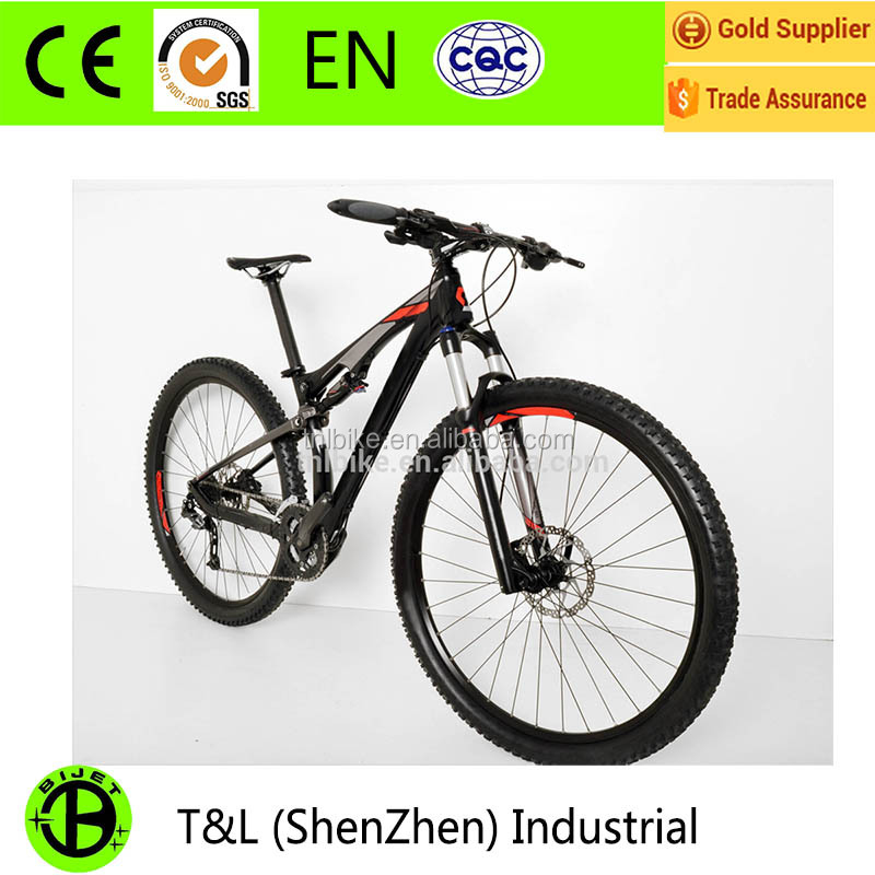 BIJET 29er 9 speed aluminum alloy full suspension mountain bike mtb
