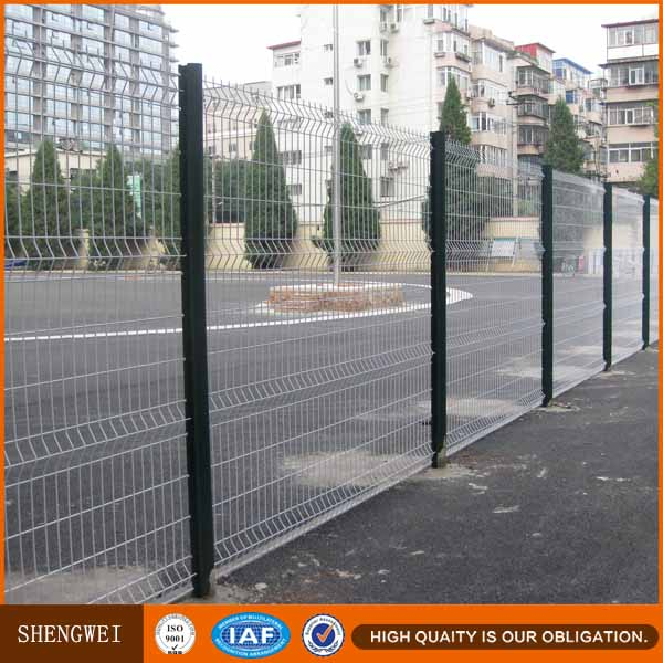 Prefab road divider welded steel wire mesh concrete fence panels