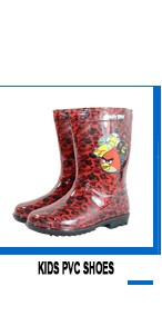 pvc fashion transparent kids rain boots