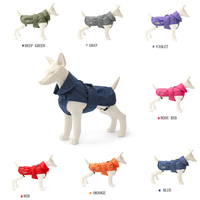 Seven Color Luxury Waterproof Warm Autumn Winter Small Middle Pet Dog Clothes Jacket